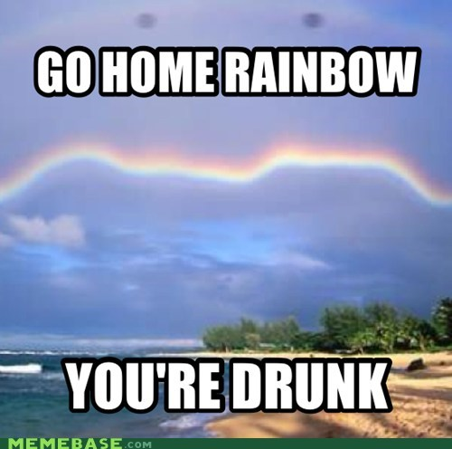 raingoggles,so beautiful,go home,drunk,rainbow