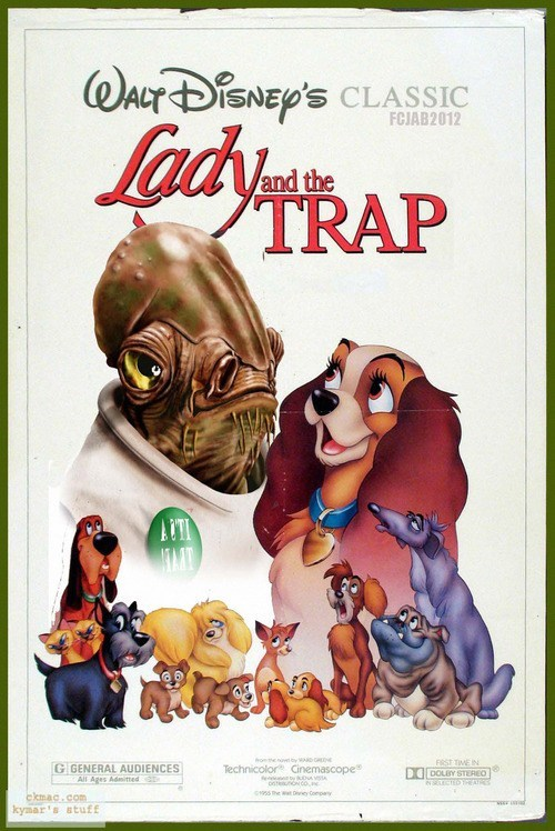lady and the tramp disney star wars poster Movie fake funny - 6730028288
