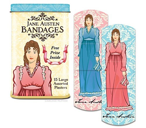 girly,injury,bandages,jane austen
