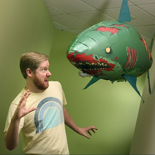 scary radio controlled zombie shark balloon flying