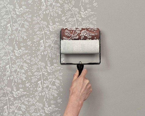roller paint wallpaper - 6730087168