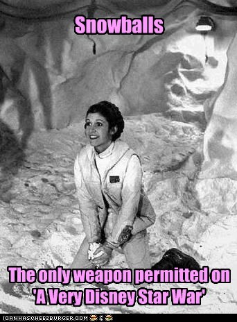 disney star wars snowballs g rated carrie fisher permitted Princess Leia - 6730297600