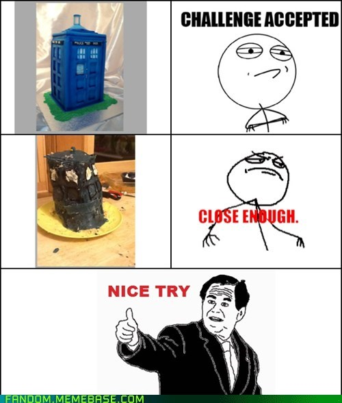 cake,tardis,doctor who,nice try