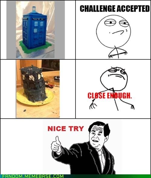 cake tardis doctor who nice try - 6730510336