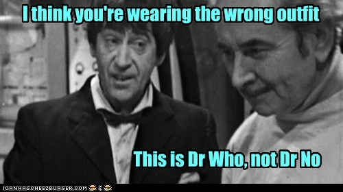 outfit,dr-no,patrick troughton,the doctor,wrong,doctor who