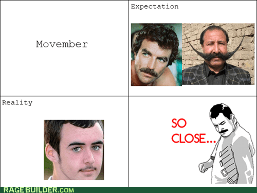 movember so close no shave november