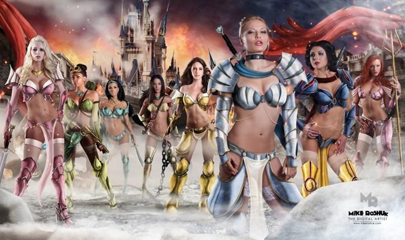 Sexy Ladies warrior disney list Fan Art - 673285