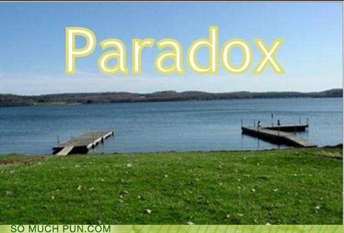 paradox,pair,literalism,homophones,docks,double meaning