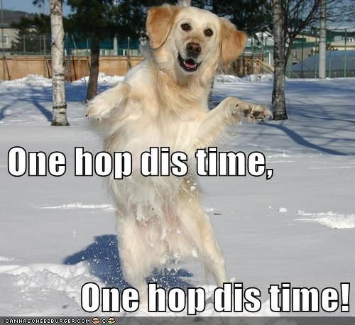 One hop dis time, One hop dis time!