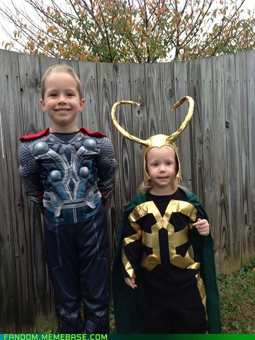 loki Thor cosplay kids cute