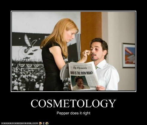 iron man,cosmetology,make up