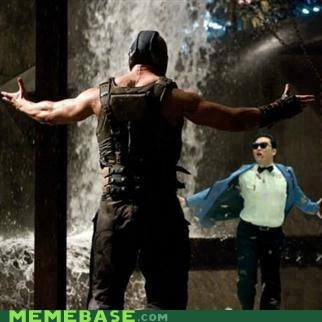 ROUND ONE FIGHT,bane,batman,gangnam style