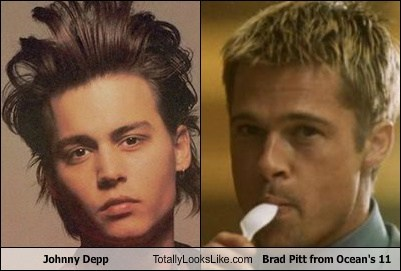 Johnny Depp Totally Looks Like Brad Pitt From Oceans 11 Totally