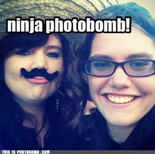 ninja photobomb!