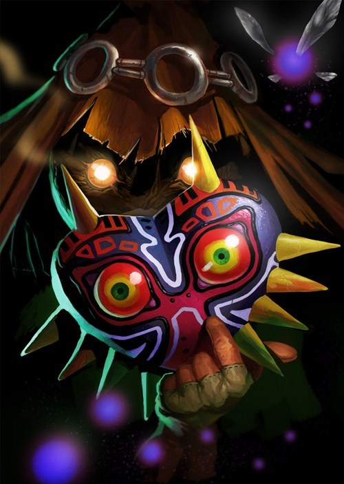 art,skull kid,majoras mask,zelda