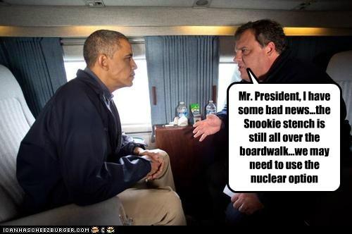 Chris Christie stench Snookie president barack obama boardwalk hurricane sandy New Jersey - 6734350336