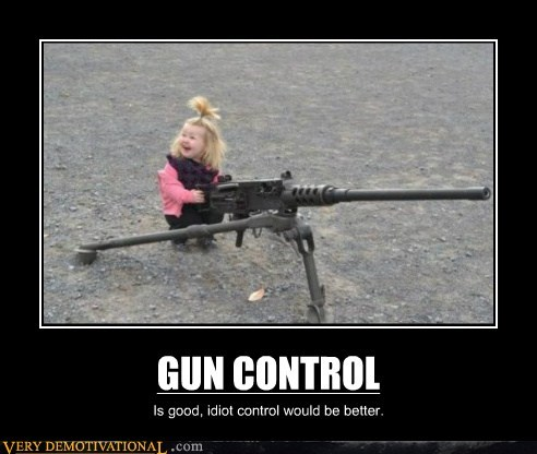 GUN CONTROL Is good, idiot control would be better.