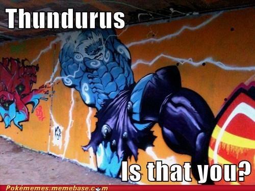 art,graffiti,thundurus