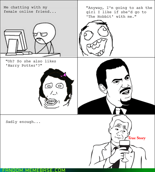 Harry Potter,true story,The Hobbit,Rage Comics