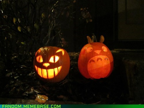 halloween jack o lanterns my neighbor totoro pumpkins - 6734969088