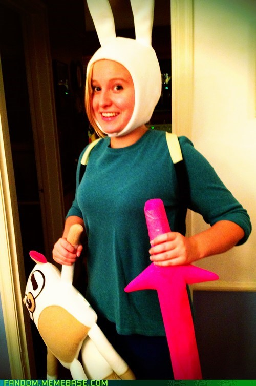 cosplay Fionna and Cake cartoons adventure time