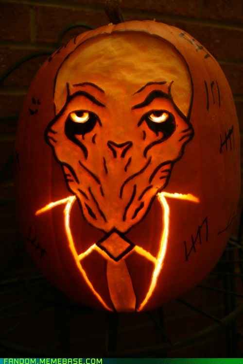 jack o lanterns doctor who the silence pumpkins - 6735113216