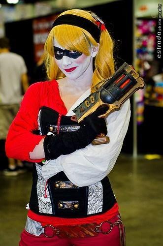 cosplay,Steampunk,superheroes,batman,Harley Quinn