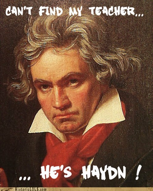 Beethoven pun composer haydn joke - 6735557120