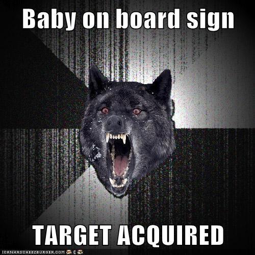 car Insanity Wolf baby on board - 6735710720