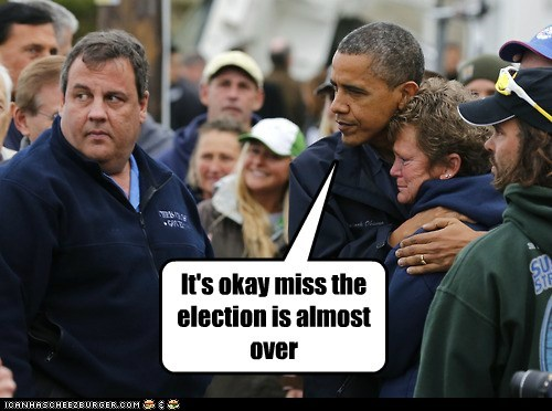 Sad its-okay over Chris Christie comfort barack obama election hug
