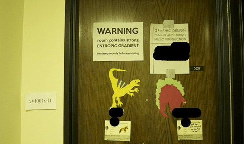 nerds,dorm door,dorms