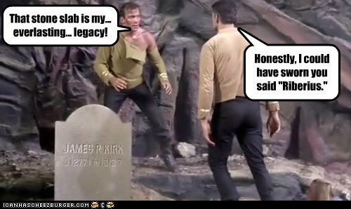 Captain Kirk tombstone typo Gary Mitchell Star Trek William Shatner legacy Shatnerday - 6736299520