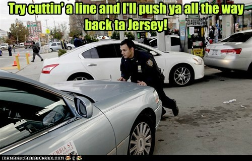 gas,cop,lines,new york,punishment,New Jersey