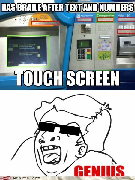 portugal,braille,ATM,genius guy,braille atm,genius meme,genius