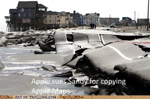 IRL apple maps hurricane sandy - 6736408576