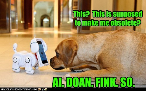 dogs,technology,robot,puggle,obsolete