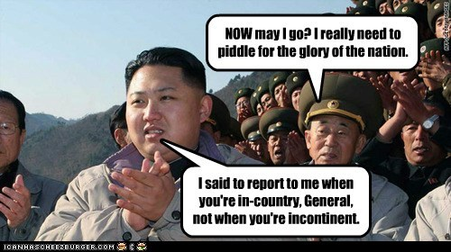 kim jong-un glory incontinence have to pee North Korea parade report