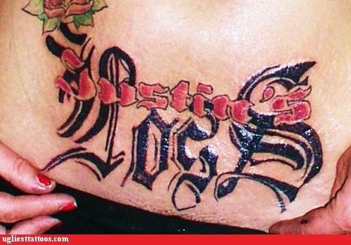 dustin's loss ex girlfriend belly tattoos - 6737215744