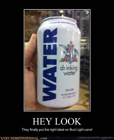 bud light beer booze water look cans
