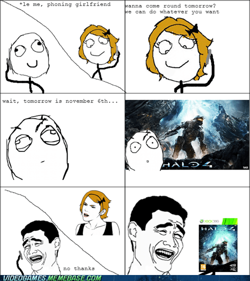 rage comic,girlfriend,Halo 4