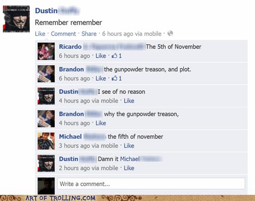 v for vendetta fifth of november Guy Fawkes facebook - 6737654784
