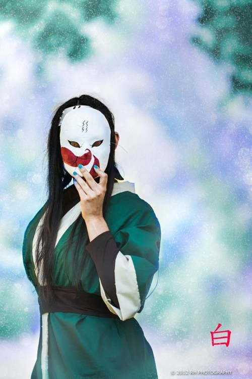 cosplay anime Haku naruto - 6738139904