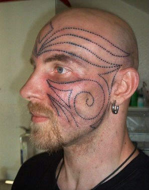 patterns,face tattoos