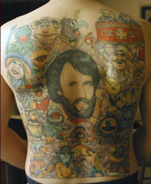 the muppets,back tattoos,jim henson