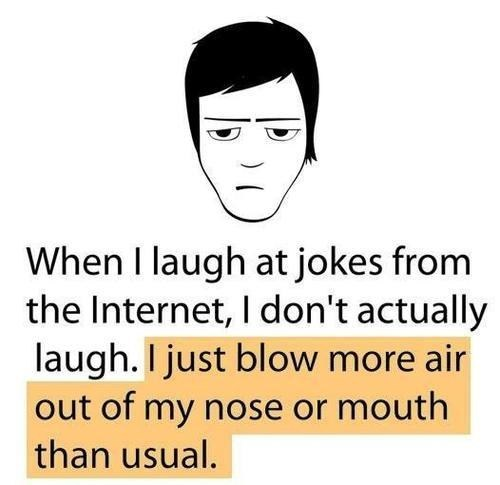 internet nose lol laughing