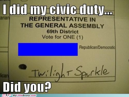 election day,vote,twilight sparkle