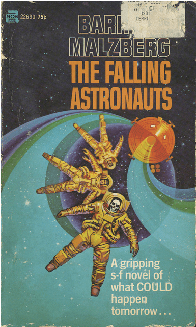 wtf,falling,skeleton,book covers,cover art,astronauts,science fiction