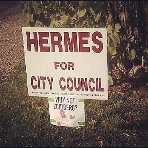 sign hermes election why not zoidberg