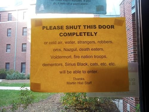 door,sign,IRL,fandom