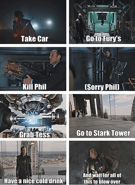 loki tom hiddleston Movie actor The Avengers celeb funny clark gregg - 6738776832